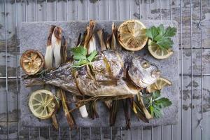 Sea bream baked in the oven