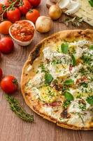 Pizza Bianco with Rosemary and Pancetta photo