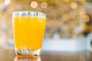 Orange juice glass photo