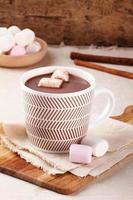 bebida de chocolate caliente