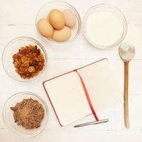 Blank recipe book photo