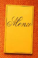 menu boek