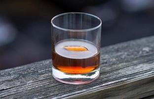 cóctel de whisky aseado foto