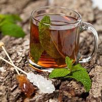 chá com hortelã