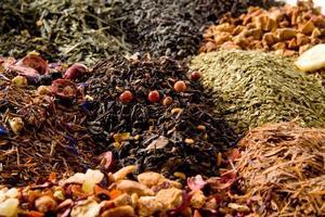 Different types of tea photo