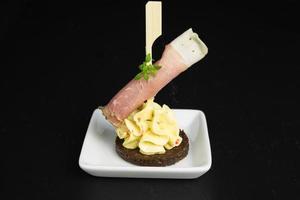 appetizer ham on cream cheese photo