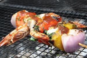 os camarões preparados