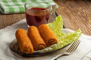 Delicious croquettes with meat. photo