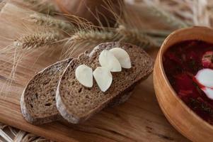 Borsch - a traditional Ukrainian dish