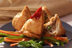 Samosa  is an Indain fried or baked pastry