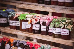 Several different tastes with home made jam