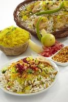bhelpuri, comida de chat, india foto
