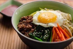 Bowl of Bibimbap Close Up