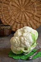 Raw cauliflower. photo