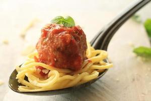 Italian meatballs in tomato sauce photo