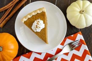 Homemade Pumpkin Pie Slices photo
