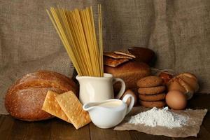 produits de farine savoureux bouchent