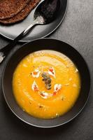 Pumpkin cream soup, vertical