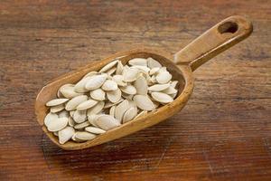 semillas de calabaza frescas