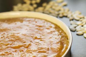 Pumpkin cake butter photo