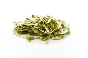 Spinach pasta. photo