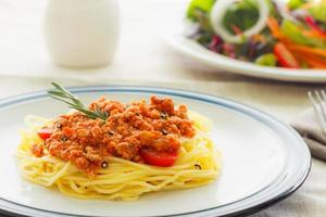 espagueti de pasta foto