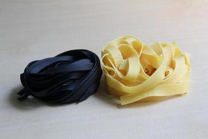 Egg Pasta and Squid ink Pasta photo
