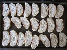 Sliced baguette photo