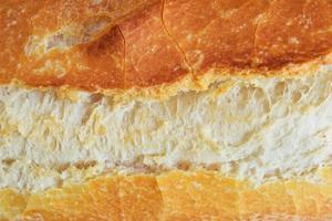 Fresh French baguette closeup