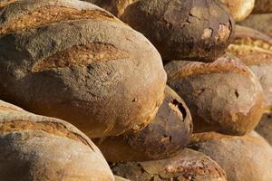 Detalle de primer plano de pan italiano foto