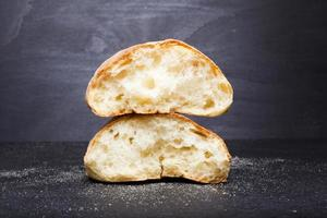 fresh broken bread