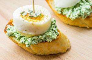 Tasty tapas with cream cheese photo