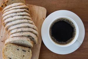 French bread, Pain de Campagne and coffee