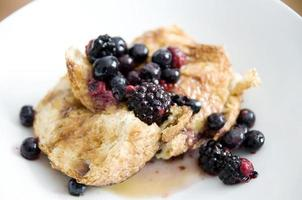 Homemade french toast with blackberries