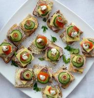 Catering food, canapes