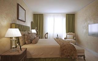dormitorio principal diseño inglés foto