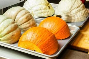 Squash and pumpkin halves