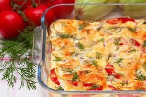 deliciosas verduras gratinadas foto