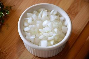 chopped onions photo