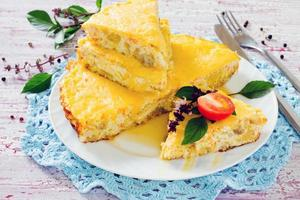 Fish omelet with cheese
