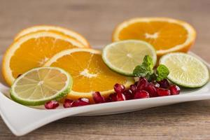 plate of fruits photo