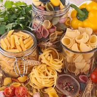 pasta and ingredients photo