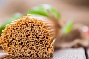Wholemeal Spaghetti (close-up shot)