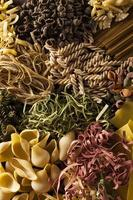 Assorted Homemade Dry Italian Pasta photo