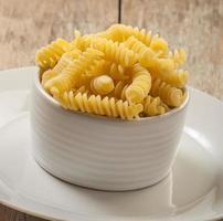pasta on wooden background