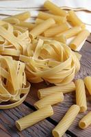 Lot of raw pasta
