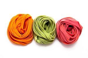 Colorful tagliatelle photo