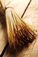 Spaghetti of whole wheat flour photo
