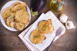 Eggplant cutlets.