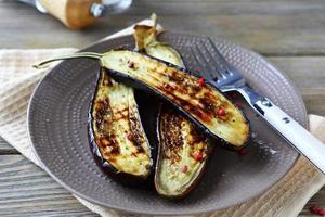 halves roasted eggplant